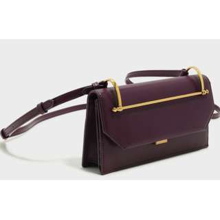 BN Charles and Keith Push-Lock Wallet with Strap