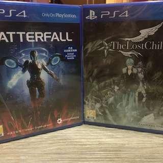 🚚 PS4遊戲 失落之子(The Lost Child)+血精石殞落(Matterfall)(全新)