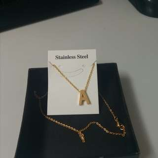 Stainless steel A necklace