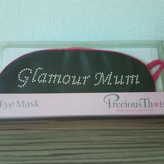 Eye mask. Eye shade. Precious thots. Pink & black. New.