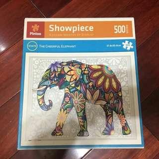 🚚 二手pintoo塑膠拼圖500片圖騰大象