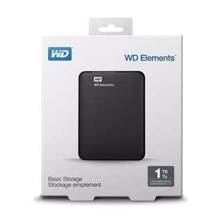 全新WD 1TB 流動硬碟