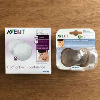 Avent Nipple Protectors (w/ Free Used Avent Breast Pads)