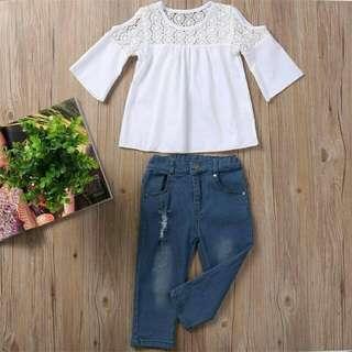 Set top + jeans