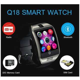 PROMOTION!!! Q18 Touchscreen Smart Watch with Sim Card - Compatible with Android and iOS Smart Phones