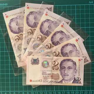 Year 2K Portrait Series Commemorative $2 Banknotes -6 Runs