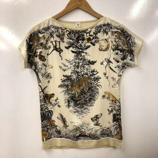 Hermes silk with cashmere top size 34