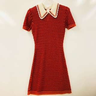 Miu miu red dress size 38