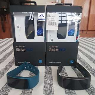 Samsung Gear Fit2 (black and blue)