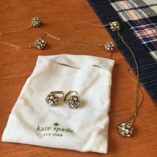 Kate spade earrings and long necklace set