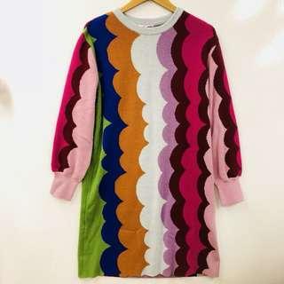 TC tsumori chisato knitted colors dress size 2