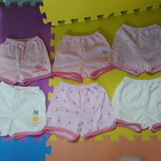 Bebe 6 pcs. shorts for 6 to 9 months