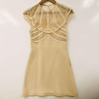 Miu Miu skin color lace dress size 38