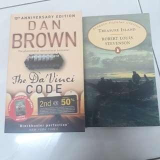 DAN BROWN - THE DA VINCI CODE & ROBERT LOUIS STEVENSON - TREASURE ISLAND