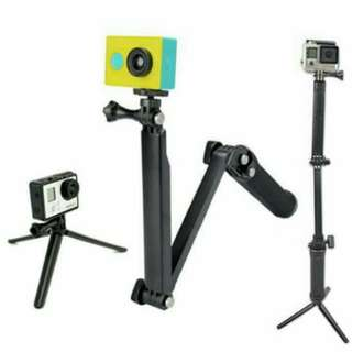 3 Way Monopod For GoPro Ready Stok