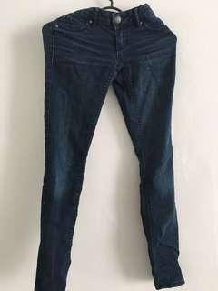 Celana jeans panjang biru blue skinny jegging legging kulot zara uniqlo guess stradivarius sexy ripped