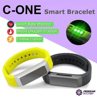 PROMOTION!!! C-ONE Smart Bracelet - Blood Oxygen Monitor, Heart Rate, Sports Fitness Tracker - For iPhone and Android Smart Phones