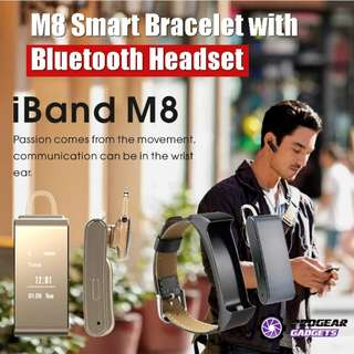 PROMOTION!!! M8 Smart Bracelet with Bluetooth Headset - Waterproof Sleep Monitor Long Standby Time for iOS/Android Smartphone