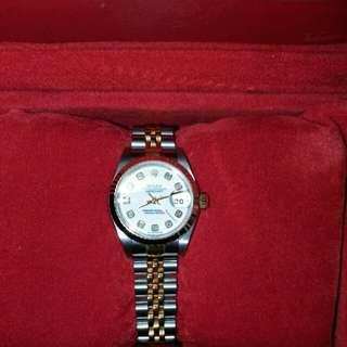 Rolex Datejust 白色鑽石字