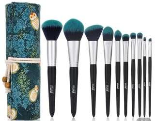 Forest Blue Make Up Brushes