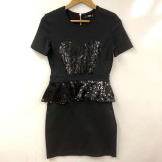 Markus Lupfer black with sequins dress size M