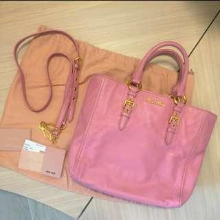 🈹Miu Miu 限定真皮玫瑰粉紅款袋Limited Rose Pink Bag🛍