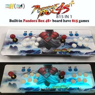 [FREE DELIVERY] Arcade Retro Game Console Pandora's Box 4S+ 815 Games / Metal Box with Backlight