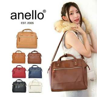 💯 Authentic Anello 2-way Leather Boston Sling