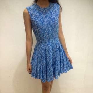 H&M blue minidress