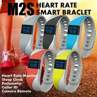 PROMOTION!!! M2S Heart Rate Monitor / Fitness / Smart Bracelet - Compatible with Android and iOS Smartphones