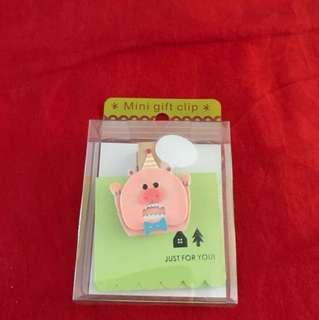 Mini gift clip