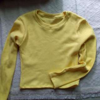 Yellow fitted longsleeves