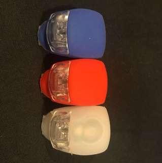 單車 青蛙燈 車前燈 尾燈 紅光 白光 藍光 $20五個包郵限郵