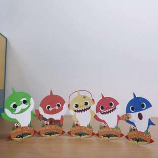 Customised Baby Shark Doo Doo table cutout stand