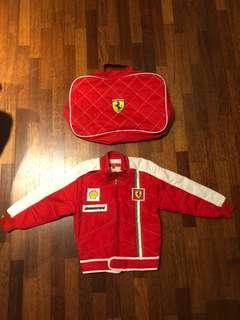 Authentic Ferrari pure cotton jacket for 3 - 5 years old kids