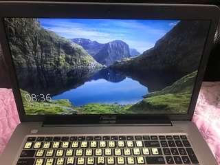 私人愛機 9成新 華碩X756u 17.3吋 i5 NVIDIA 940顯示卡 手提電腦