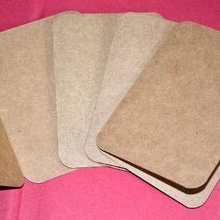 Kraft Paper Blank folded card x 40pcs