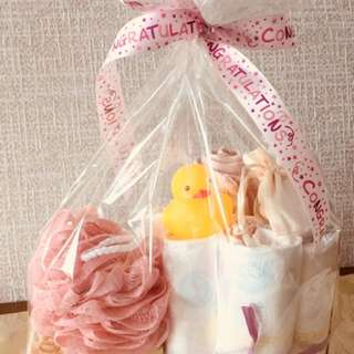 #Ramadan50 newborn diaper cake gift