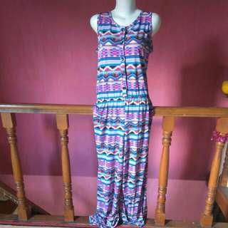 jumpsuit motif batik kalimantan