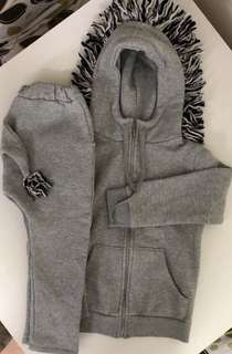 韓國斑馬造型衛衣套裝