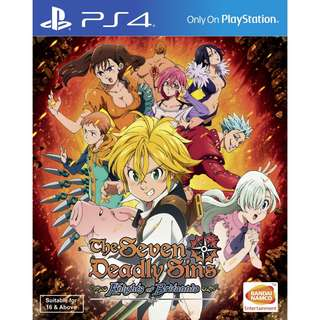 [new not used] PS4 The Seven Deadly Sins Knights of Britannia Bandai Namco Action RPG Games