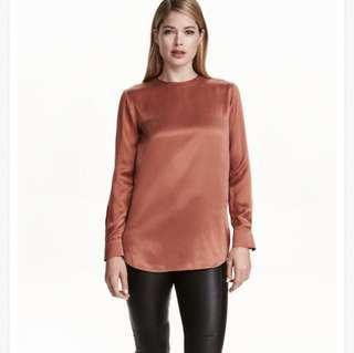 H&M Copper Silk Blouse