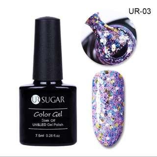 Sugars diamond gel nail polish