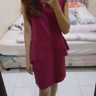 semi peplum dress