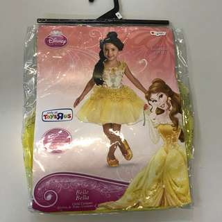 Disney princess Belle toddler costume with shoe covers