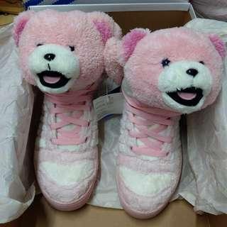Adidas Jeremy Scott 絕版限量版粉紅色熊仔鞋 Size:40.5 38-39都可穿,出面無得賣