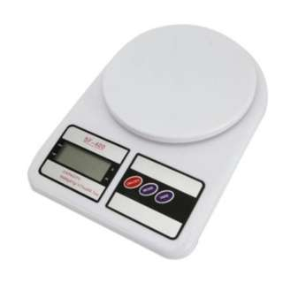 Digital Electronic Kitchen Weighing Scale (White)