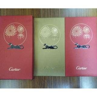 全新限量版 Cartier 紅色及金色各10個利是封共20個 連利是封盒