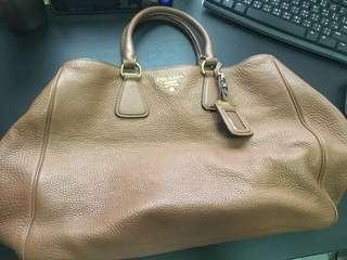 Prada Khaki Leather Bag