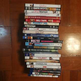 Over 20 dvd films and 4 blue Ray dvd films